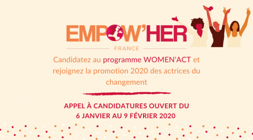 Lancement de l'appel à candidatures Women Act !