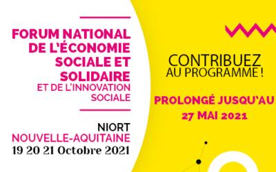 Prolongation jusqu'au 27 mai de l'appel à contribution du Forum national de l'ESS & l'IS
